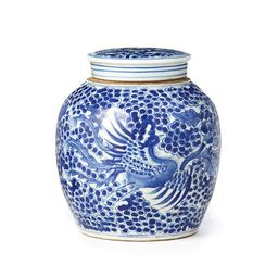 Blue and White Spotted Ginger Jar   Caitlin Wilson Design