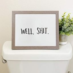 """Etch & Ember Funny Bathroom Signs - Well Shit - Unframed - Art Print - 8"""" x 10""""   Amazon (US)"""