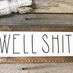 Rustic Bathroom Well Shit Sign - Bathroom Decor - Wood Sign Wall Hanging - Farmhouse Bathroom   Amazon (US)