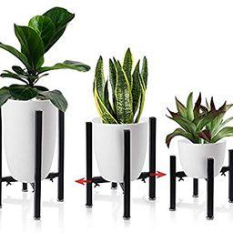 Iron Plant Stand Adjustable 3 Pack, Metal Flower Pot Planter Holder Stand Patio - Adjustable Widt... | Amazon (US)