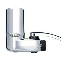 Brita Faucet Mount Water Filtration System in Chrome, BPA Free, Grey | The Home Depot