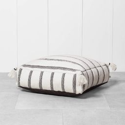 Outdoor Floor Cushion Black / White - Hearth & Hand™ with Magnolia   Target