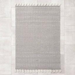 Indoor/Outdoor Texture Stripe Rug Gray - Hearth & Hand™ with Magnolia   Target