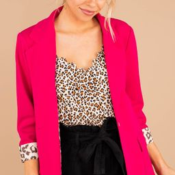 Make A Change Hot Pink Blazer | The Mint Julep Boutique