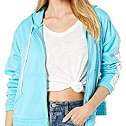 Women's Solid Tricot Track Hoodie Jacket | Amazon (US)