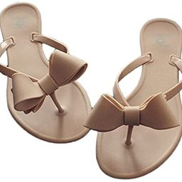 Shoe'N Tale Women Ribbon Bow Sandals Flip Flop Narrow Strap | Amazon (US)