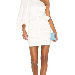 Grant One Shoulder Ruched Mini Dress | Revolve Clothing (Global)