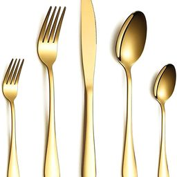 HOMQUEN Cutlery Set, Gold Flatware Set, Stainless Steel Set Service for 6 Persons, 30 Piece Dinin...   Amazon (UK)