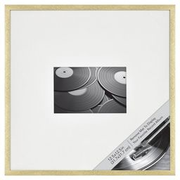 """12.5"""" x 12.5"""" Matted to 4"""" x 6"""" Thin Metal Gallery Frame Brass - Project 62™   Target"""