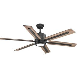 """60"""" Lesure 6 Blade LED Ceiling Fan with Remote, Light Kit Included 