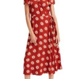 Daisy Daydream Ruffle Edge Wrap Midi Dress | Nordstrom
