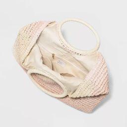 Straw Circle Handle Tote Handbag - A New Day™ Blush | Target