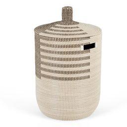 Havana Seagrass Laundry Basket, Black & White | MADE.com | MADE.COM (UK)