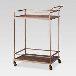 Wood & Gold Finish Bar Cart - Threshold™ | Target