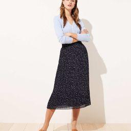 Dotted Pleated Midi Skirt | LOFT | LOFT