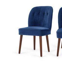 Set of 2 Margot Dining Chairs, Electric Blue Velvet | MADE.com | MADE.COM (UK)