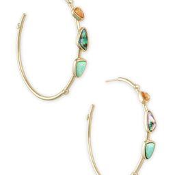 Ivy Gold Hoop Earrings in Sea Green Mix   Kendra Scott