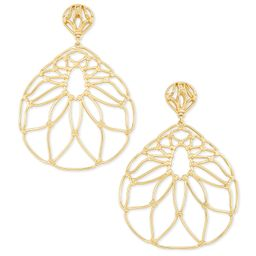 Hallie Statement Earrings In Gold   Kendra Scott
