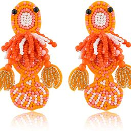Earller Handmade Statement Tassel Earrings | Fruit Earrings | Crystal Stud Earrings | Shiny Earri... | Amazon (US)