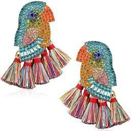 Bird Fringe Earrings for Women Girl Teens Fashion Handmade Novelty Jewelry Summer Trendy | Amazon (US)
