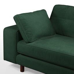 Content by Terence Conran Tobias, 3 Seater Sofa, Plush Hunter Green Velvet, Dark Wood Leg | MADE.COM (UK)