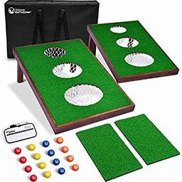 GoSports BattleChip Versus Golf Game   Includes Two 3' x 2' Targets, 16 Foam Balls, 2 Hitting Mat...   Amazon (US)