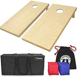 GoSports Solid Wood Premium Cornhole Set - Choose Between 4'x2' or 3'x2' Game Boards   Includes S...   Amazon (US)
