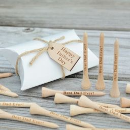 READY to SHIP!! 20 Personalized Golf Tees, Fathers Day, Gift for Dad, Golf Tees for Dad, Engraved...   Etsy (US)