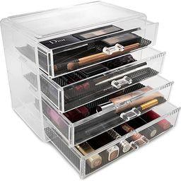 Sorbus Acrylic Cosmetics Makeup and Jewelry Storage Case Display– 4 Large Drawers Space- Saving... | Amazon (US)