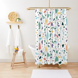 'terrazzo texture' Shower Curtain by jjsealion | RedBubble US