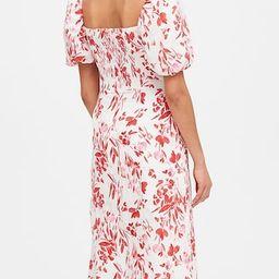 Linen-Cotton Puff-Sleeve Dress | Banana Republic (US)