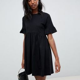 ASOS DESIGN Tall cotton slubby frill sleeve smock dress | ASOS US