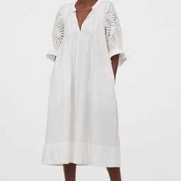 Puff-sleeved cotton dress   H&M (UK, IE, MY, IN, SG, PH, TW, HK)