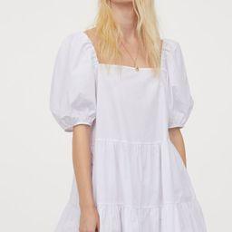 Puff-sleeved dress   H&M (UK, IE, MY, IN, SG, PH, TW, HK)