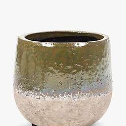 Serax Ceramic Dip Glaze Plant Pot, Extra Small, Green | John Lewis UK