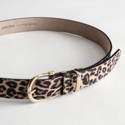 Leopard Leather Belt | & Other Stories