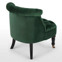 Bouji Accent Armchair, Pine Green Velvet | MADE.COM (UK)
