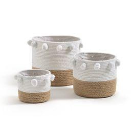Baladane Pom-Pom Baskets (Set of 3) | La Redoute (UK)