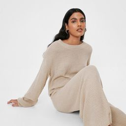 Love You Culotte Knit Sweater and Pants Lounge Set | NastyGal (US & CA)