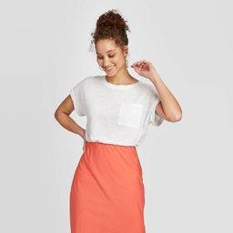 Women's Short Sleeve Round Neck Cuff T-Shirt - A New Day™ | Target