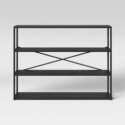 Glasgow Horizontal 3 Shelf Metal Bookcase Black - Project 62™   Target