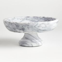 French Kitchen Marble Fruit Bowl + Reviews | Crate and Barrel | Crate & Barrel