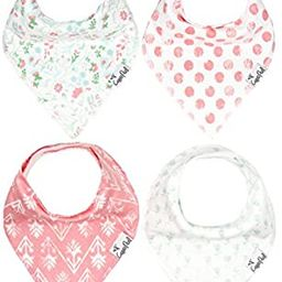 """Baby Bandana Drool Bibs for Drooling and Teething 4 Pack Gift Set for Girls """"Claire Set"""" by C...   Amazon (US)"""