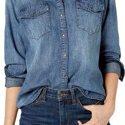 Amazon Brand - Goodthreads Women's Denim Long-Sleeve Western Shirt   Amazon (US)