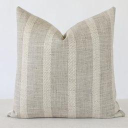 Grey Striped Linen Pillow Cover, Linen Striped Lumbar Pillow, Beige Stripe PillowNatural Pillow C... | Etsy (CAD)