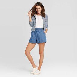 Women's Mid-Rise Pull-On Shorts - Universal Thread™ Medium Wash | Target