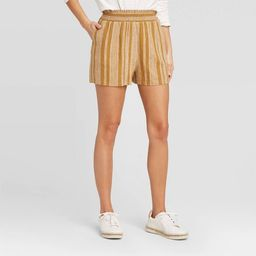 Women's Striped High-Rise Pull On Shorts - Universal Thread™ | Target