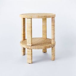 Costa Mesa Round Rattan Wrapped Accent Table Tan - Threshold™ designed with Studio McGee | Target