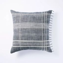Woven Plaid Pillow Blue - Threshold™ designed with Studio McGee | Target