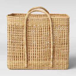 """Open Weave Square Basket 20"""" x 16.9"""" Natural - Threshold™ designed with Studio McGee 